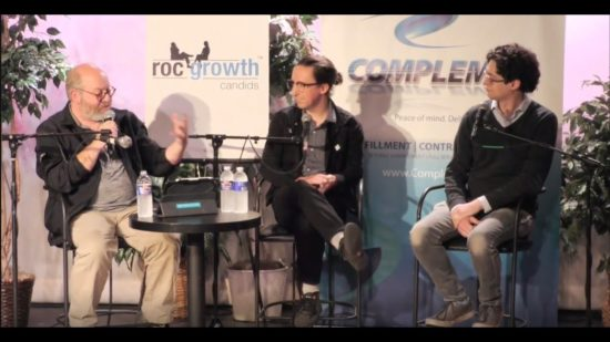 RocGrowth-Candids-2018-11-07-•-Dan-Schneiderman-Robert-Mostyn-•-Innovative-Makers-Gamers