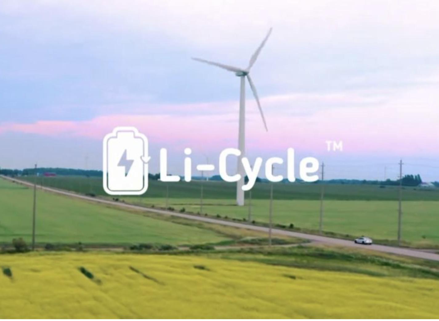 Li-Cycle logo and windmill
